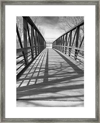 Framed Print featuring the photograph A Bridge Too Far by Irma BACKELANT GALLERIES