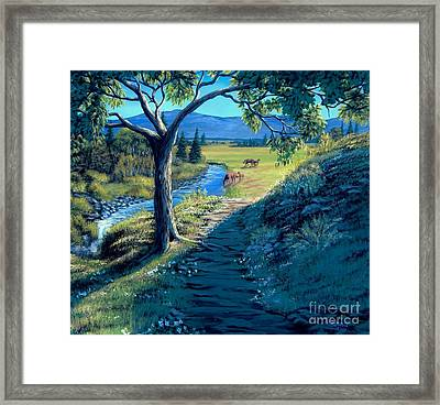 A Brighter Path Framed Print