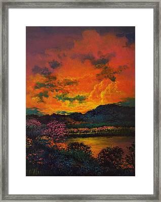 A Brightness So Dark Framed Print