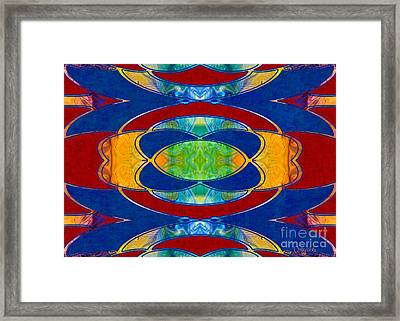 A Brisk Imagination Abstract Bliss Art By Omashte Framed Print