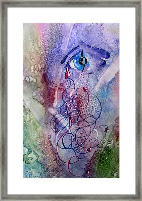 A Broken Eye Still Cries Framed Print by Marsha Elliott