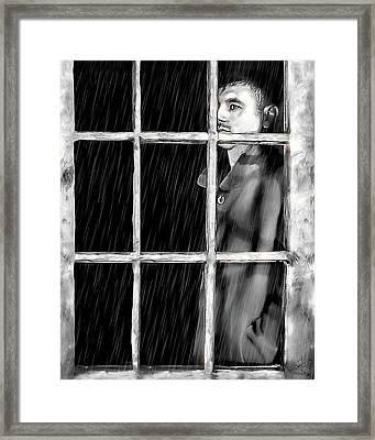A Broken Heart Framed Print