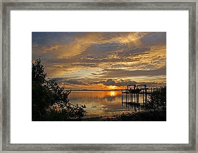 A Brooding Sunset Sky Framed Print by HH Photography of Florida
