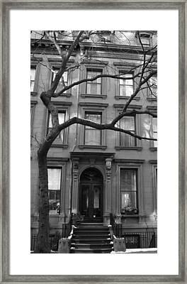 A Brownstone In Brooklyn Framed Print by Christopher Kirby