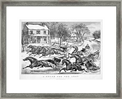A Brush For The Lead Framed Print