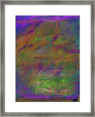 A Brush With The Edge Framed Print