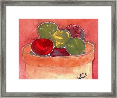A Bucket Full Of Apples Framed Print by Saad Hasnain