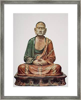 A Buddhist Apostle, Tang Framed Print by Vintage Design Pics