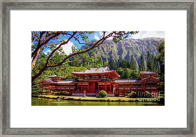 Buddhist Temple - Oahu, Hawaii - Framed Print