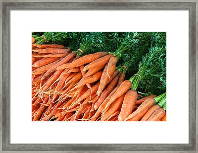 A Bunch Of Carrots Framed Print by Todd Klassy