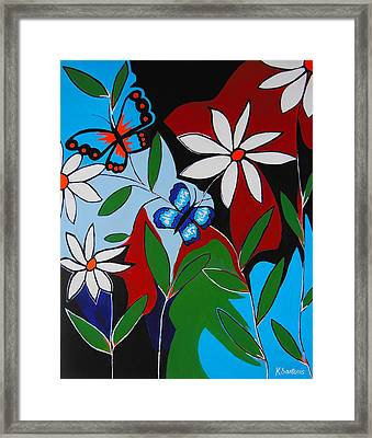 Framed Print featuring the painting A Butterflies Paradise by Kathleen Sartoris
