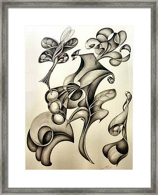A Butterfly Sighs Framed Print by Lonnie Tapia