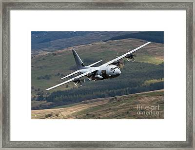 A C-130 Hercules Of The Royal Air Force Framed Print by Andrew Chittock