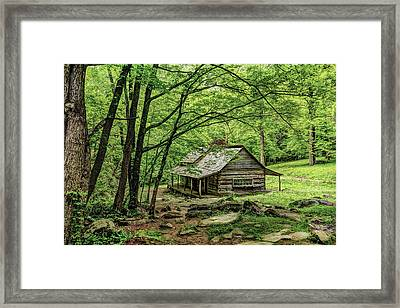 A Cabin In The Woods Framed Print