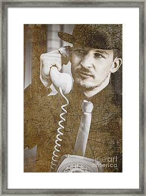 A Call Of Interception Framed Print
