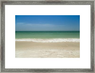 A Calm Wave Framed Print