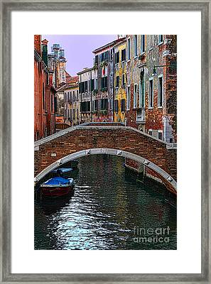 A Canal In Venice Framed Print by Tom Prendergast