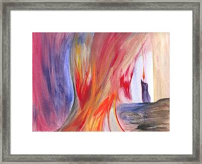 A Candle's Flame Framed Print by Robert Meszaros
