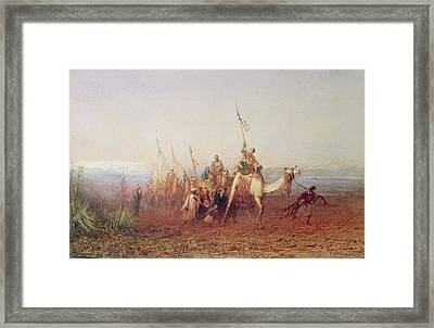 A Caravan On The Way To Cairo Framed Print by Felix Ziem