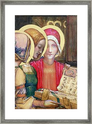 A Carol Framed Print by Edward Reginald Frampton