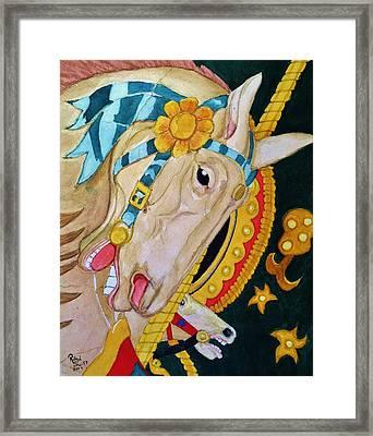 A Carousel Horse Framed Print