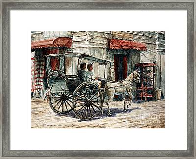 A Carriage On Crisologo Street Framed Print