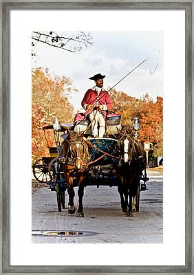 Autumn Colonial Carriage  Framed Print by Rachel Morrison