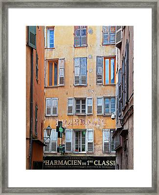 A Case Of The Shutters, Grasse, France Framed Print