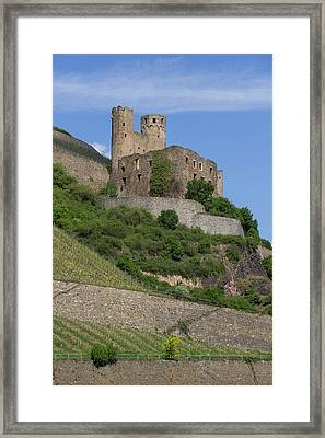 A Castle Among The Vineyards Framed Print by Teresa Mucha