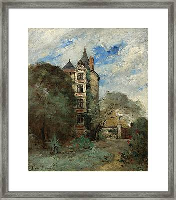 A Castle In The Park Framed Print by MotionAge Designs