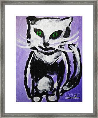 A Cat For Julia Framed Print by Sarah Loft