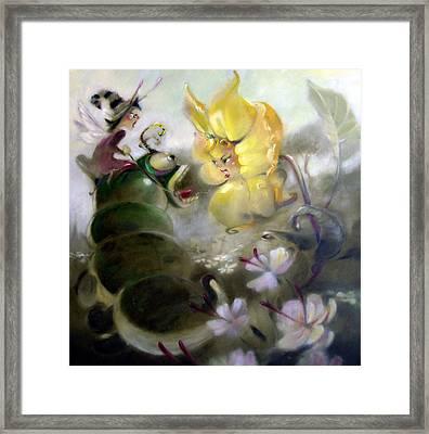 A Caterpillar Ride Framed Print