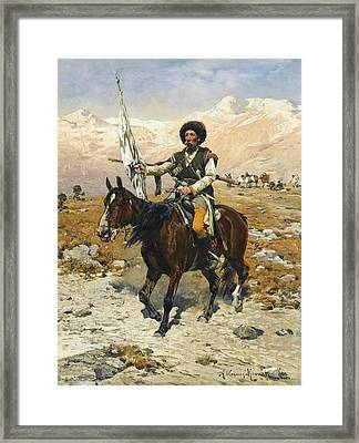 A Caucasian Chief Framed Print by Alfred Kowalski