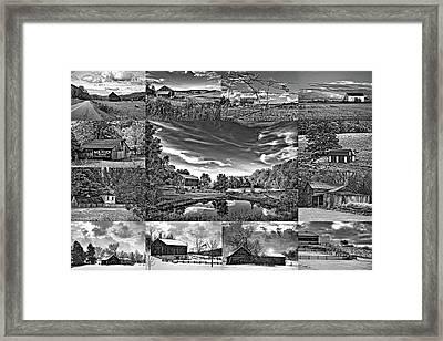 A Celebration Of Barns  Bw Framed Print by Steve Harrington