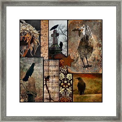 A Celebration Of Vintage Crows Framed Print