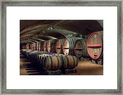 A Cellar Of Burgundy Framed Print