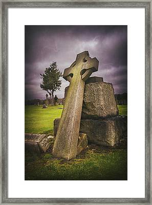 A Celtic Cross In Glasgow Scotland Framed Print