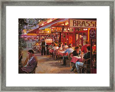 A Cena In Estate Framed Print