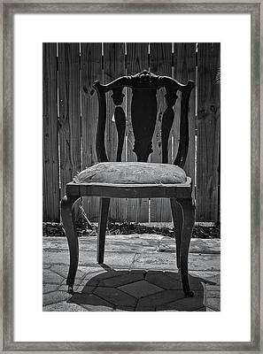A Chair In Despair Framed Print by DigiArt Diaries by Vicky B Fuller