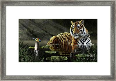 A Chance Encounter Framed Print by Don Olea