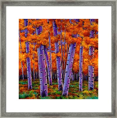 A Chance Encounter Framed Print
