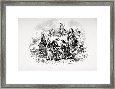 A Chance Meeting. Illustration From The Framed Print by Vintage Design Pics