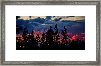 Framed Print featuring the photograph A Chance Of Thundershowers by Albert Seger