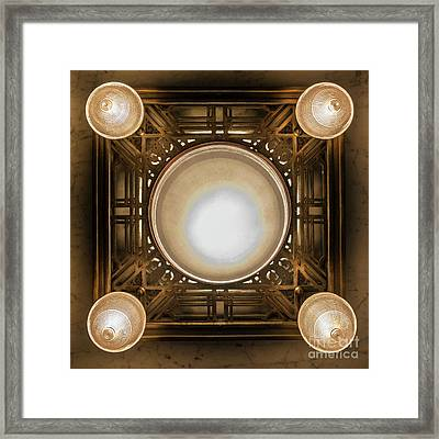 A Chandelier In The Rookery Framed Print