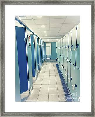 A Changing Room Framed Print by Tom Gowanlock
