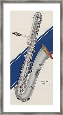 A Charles Gerard Conn Bb Bass Framed Print