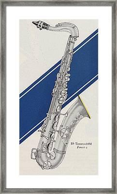 A Charles Gerard Conn Bb Tenor Framed Print