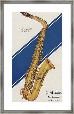 A Charles Gerard Conn C Melody Framed Print