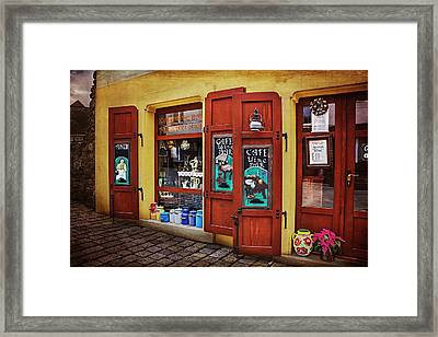 A Charming Little Store In Bratislava Framed Print by Carol Japp