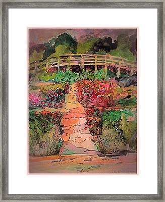 A Charming Path Framed Print by Mindy Newman